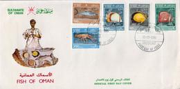 Oman Set On FDC - Marine Life