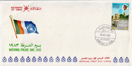Oman Stamp On FDC - Oman