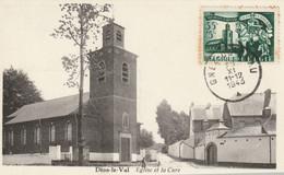 Carte Maximum -  Dion-le-Val - L'Eglise Et La Cure - 1934-1951