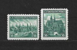 Czechoslovakia 1938 MNH ** Mi.400-401 Sc 249-250 Exhibitions Plzen And Kosice. Tschechoslowakei. - Czechoslovakia