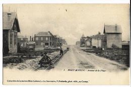 FORT-MAHON (80) Avenue De La Plage - Coll. Maison Miot-Leboeuf F. Poitevin (petit Wagonnet Sur Rail), Carte Nuage, Dos S - Fort Mahon