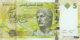 Tunisie 5 Dinars (P95) 2013 (Pref: C/2) -UNC- - Tunisia