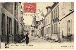 TRAINEL (10) La Rue Saint-Antoine (voyagé En 1905) Coll P.R.S. - Altri Comuni