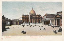 Italy - Roma - Piazza E Basilica Di S. Pietro - Carriage - Litho - San Pietro