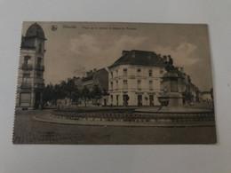 Carte Postale Ancienne  (1922) VILVORDE Place De La Station Et Statue De Portaels - Vilvoorde
