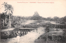 BENIN DAHOMEY Equipe De Travailleurs Indigenes Colonies Francaises 20(scan Recto-verso) MA196 - Benín