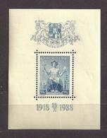 Czechoslovakia 1938 MNH ** Mi 403 Bl 5 Sc B153 Alegory Of The Republic. Tschechoslowakei - Czechoslovakia