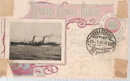 England & Circulated, Rapid Royal Route, Leysdown-on-Sea To  Lisbon Portugal 1902 (68768) - United Kingdom