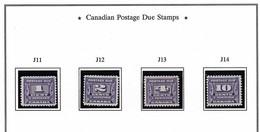 CANADA 1933-1934 THIRD POSTAGE DUE ISSUE SCOTT J11*-J14* CV US 80. JPG  .jpg - Strafport