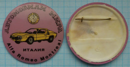 USSR / Soviet Union / RUSSIA / Badge / Cars Of The World. ALFA ROMEO MONTREAL. Italy. - Alfa Romeo