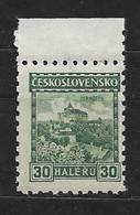 Czechoslovakia 1926 MNH ** Mi 246 A Wz 1Y8 Pernstejn With Watermarks. Tschechoslowakei C1 - Czechoslovakia