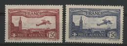 POSTE AERIENNE N° 5 + N° 6 Neufs ** (MNH) COTE 94 €. TB - 1927-1959 Mint/hinged