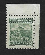 Czechoslovakia 1926 MNH ** Mi 246 A Wz 1Y8 Pernstejn With Watermarks. Tschechoslowakei C2 - Czechoslovakia