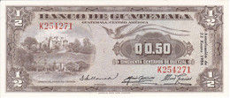 BILLETE DE GUATEMALA DE 50 CENTAVOS DE QUETZAL DEL AÑO 1958 EN CALIDAD EBC (XF) (BANKNOTE)  RARO - Guatemala