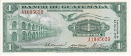 BILLETE DE GUATEMALA DE 1 QUETZAL DEL AÑO 1958 EN CALIDAD EBC (XF) (BANKNOTE)  RARO - Guatemala