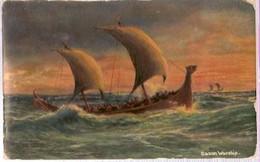 England & Circulated, Saxon Warship, Felixstowe To  Neumarkt In Der Oberpfalz Germany 1907 (5457) - United Kingdom