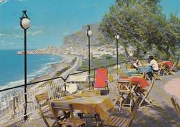 CEFALÚ-PALERMO-PANORAMA DAL NIGHT CLUB=HEUCALIPTUS=-CARTOLINA VERA FOTOGRAFIA- VIAGGIATA 1970? - Palermo