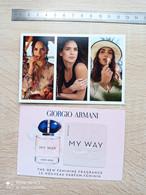 ARMANI -   Carte Parfumée - Parfumkaarten