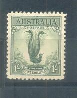 1932 Superb Lyrebird  MLH Yellow Green - Ungebraucht
