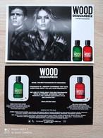 DSQUARED2 - WOOD  - Carte Parfumée - Parfumkaarten