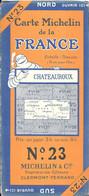 CARTE-ROUTIERE-MICHELIN-1924-N°23-N°249-54-68-FRANCE-CHATEAUROUX-Carte Comme Neuve -Couverture TBE - Cartes Routières