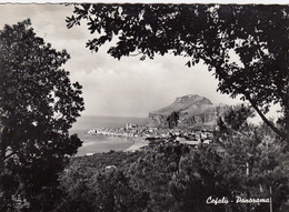 CEFALÚ-PALERMO-PANORAMA- CARTOLINA VERA FOTOGRAFIA  VIAGGIATA-1952-1958 - Palermo