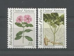 United Nations NY 1990 Medicinal Plants Y.T. 572/573 ** - Ungebraucht