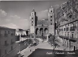 CEFALÚ-PALERMO-CATTEDRALE-PROSPETTO- CARTOLINA VERA FOTOGRAFIA  VIAGGIATA IL 13-5-1952 - Palermo