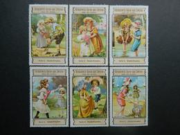Reklamemarken Garne Und Zwirne Gruschwitz Textilwerke Leutkirch Im Allgaü Serie 4 Kinderfreuden - Vignetten (Erinnophilie)