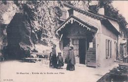 St Maurice VS, Entrée De La Grotte Aux Fées (cpn 2449) - VS Valais