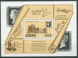 Ghana 1990 150 Jahre Briefmarken Penny Black Block 156 Postfrisch (C28017) - Ghana (1957-...)
