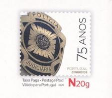 Portugal 2020 75 Anos Policia Judiciária Police Stationary Card Bilhete Postal Polizia Postcard Investigation - Militaria