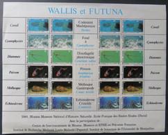 Wallis Et Futuna- Yvert 267-72 Feuille Neuve Sans Charnière - Scott#264-269 - MNH Sheet Of 4 Sets - Coquillage Poisson - Used Stamps