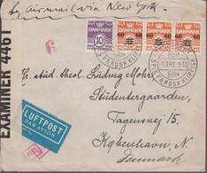 1940. Faroe Islands. Provisional Issue.  3-strip 60 Øre On 6 Øre Orange + 10 øre On C... (Michel 6) - JF367056 - Faroe Islands