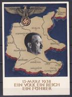 Deutsches Reich - 1938 - Propagandakarte - Ein Volk Ein Reich Ein Führer - Used Stamps