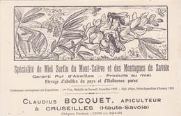 Cpa-74- Cruseilles-pas Sur Delc. -apiculteur Claudius Bocquet-dilpome D'honneur Foire Expo Annecy 1928 - Andere Gemeenten