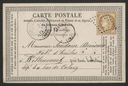 1875 GROS CHIFFRE EVIDE D'Albert Dans La Somme. Voir Description - 1849-1876: Classic Period