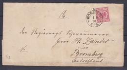 Deutsches Reich - 1890 - Brief - Worienen - Mit Ankuftsstempel - Usados