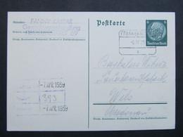 GANZSACHE Frankenmarkt - Wels 1939 ///  D*46593 - Covers & Documents