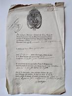 Quittance De Cens & Fonds De Terre En L'an 1789 Des Droits Seigneuriaux Du Prieuré De St Martin Des Champs à Paris - TBE - Sin Clasificación
