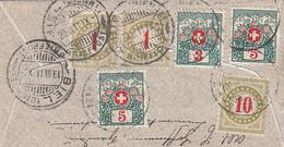 Deutsches Reich Brief 1911 6 Porto Briefmarken Schweiz - Brieven