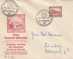 Deutsches Reich Brief 1937 Tag Der Briefmarke - Brieven En Documenten