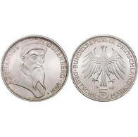5 DM Johannes Gutenberg 1968 Bankfrisch - [ 7] 1949-… : FRG - Fed. Rep. Germany