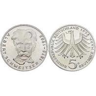 5 DM Albert Schweitzer 1975 Bankfrisch - [ 7] 1949-… : FRG - Fed. Rep. Germany