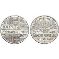 5 DM Europäisches Denkmalschutzjahr 1975 Bankfrisch - [ 7] 1949-… : FRG - Fed. Rep. Germany