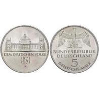 5 DM 100 Jahre Reichsgründung 1971 Bankfrisch - [ 7] 1949-… : FRG - Fed. Rep. Germany