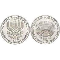 5 DM Grundgesetz Der Bundesrepublik Deutschland 1974 Bankfrisch - [ 7] 1949-… : FRG - Fed. Rep. Germany
