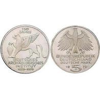 5 DM Deutsches Archäologisches Institut 1979 Bankfrisch - [ 7] 1949-… : FRG - Fed. Rep. Germany
