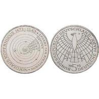 5 DM Nikolaus Kopernikus 1973 Bankfrisch - [ 7] 1949-… : FRG - Fed. Rep. Germany