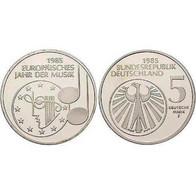 5 DM Europäisches Jahr Der Musik 1985 Bankfrisch - [ 7] 1949-… : FRG - Fed. Rep. Germany
